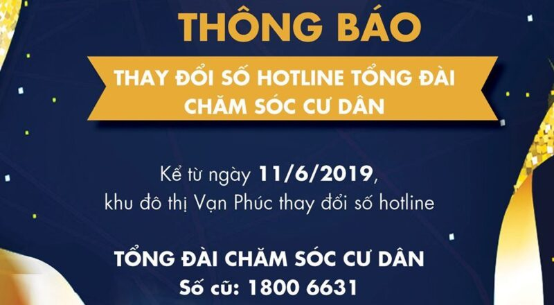 Tổng đài ban quản lý khu đô thị Vạn Phúc City ở quận Thủ Đức