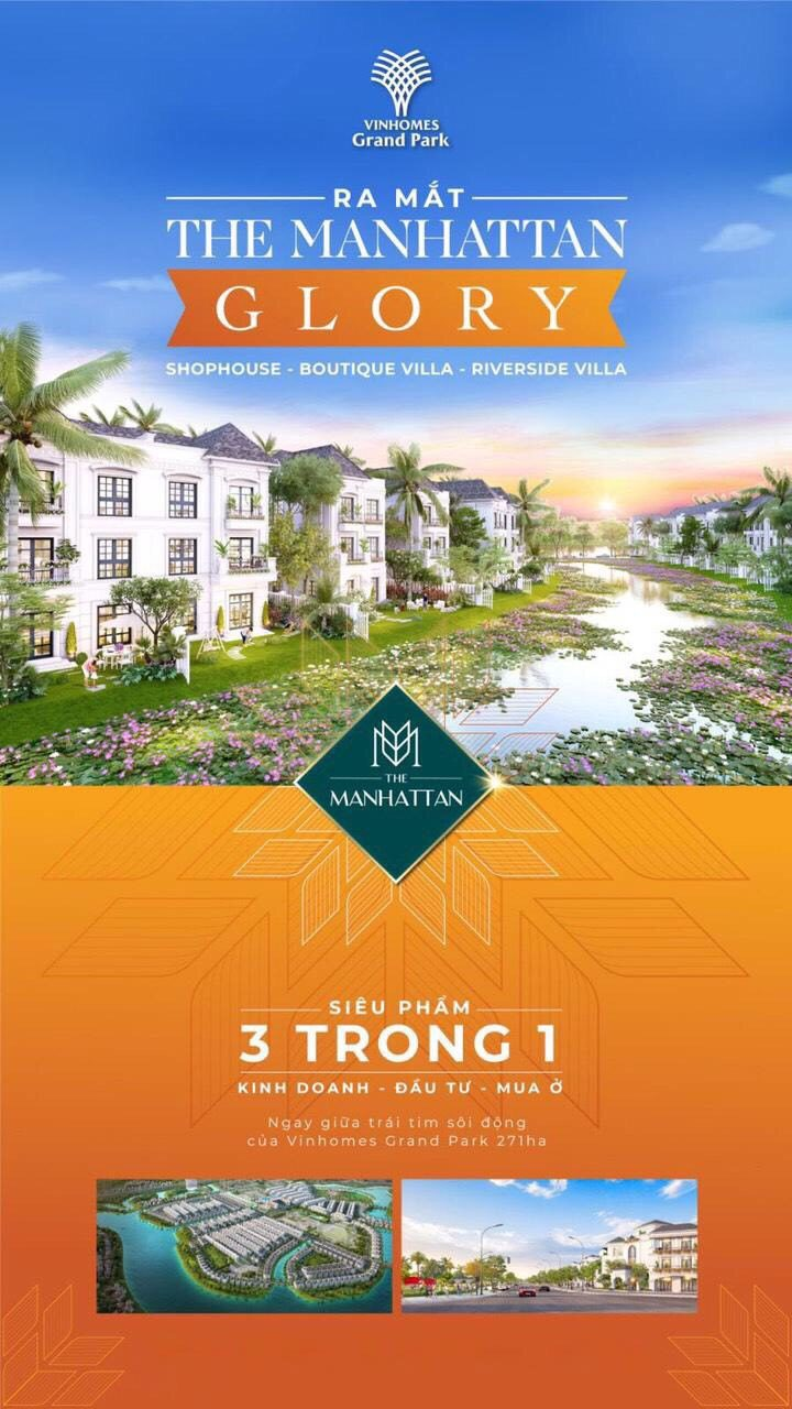 Vinhomes Grand Park ra mắt The Manhattan Glory