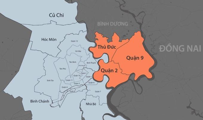 Khu đô thị sáng tạo, tương tác cao phía Đông là nền tảng xây dựng Thành phố Thủ Đức trên cơ sở sáp nhập quận 2, 9 và Thủ Đức.