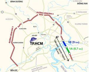 Hai dự án 1A và 1B thuộc Vành đai 3 ở Thành phố Hồ Chí Minh dự kiến được khởi công năm 2021.