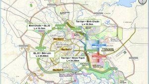 Bản đồ đồ tuyến Vành đai 3 TP HCM, dự kiến gói thầu đầu tiên Tân Vạn - Nhơn Trạch khởi công vào quý III/2021.