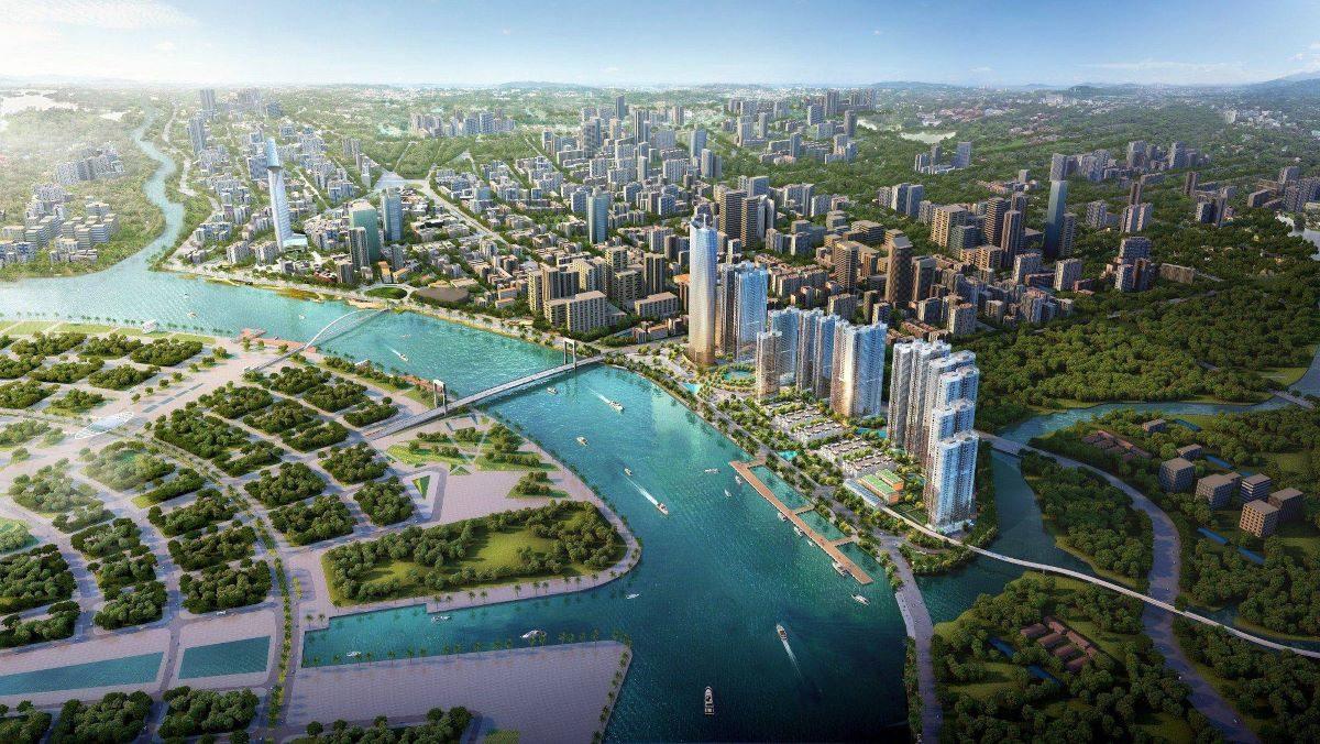 Phối cảnh về dự án căn hộ hạng sang Grand Marina Saigon của Masterise Homes tọa lạc vị trí độc tôn Ba Son, Quận 1 sắp được ra mắt.