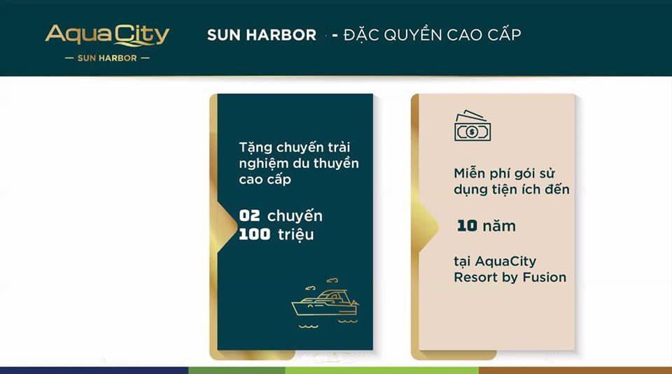 Đặc quyền cao cấp tặng 02 chuyến trải nghiệm du thuyền cao cấp dành cho khách hàng Aqua Marina.